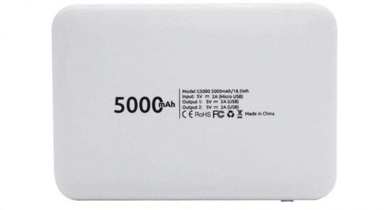 The GIZZU 5000mAh 2x USB Power Bank